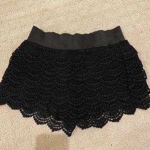 Flowy Black Shorts